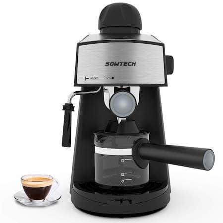 μηχανή espresso-3-5-bar-4-cup-espresso-maker-cappuccino-machine-with-steam-milk-frother-and-carafe
